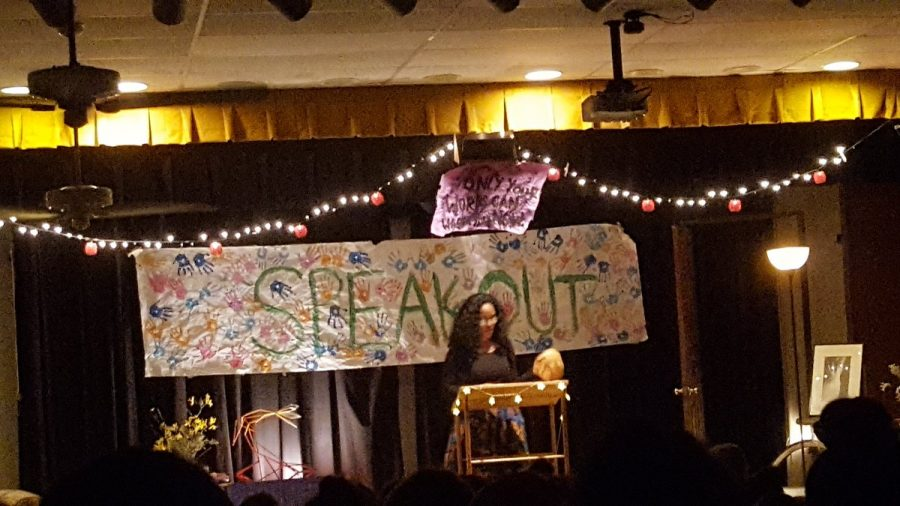 Shakira Cross speaks out at the 2017 Poetry Slam.