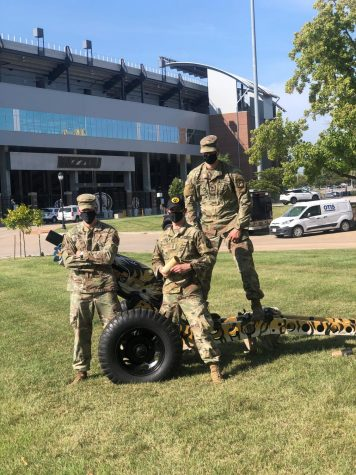 Cadet Grayson, Cadet Steger, Cadet Grayson  are preparing for the new format of the tradition.