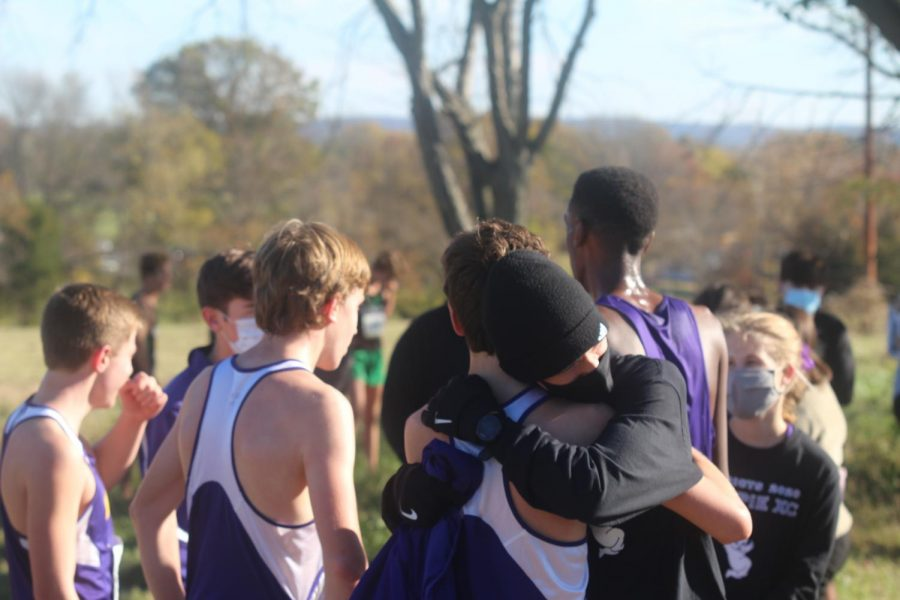 Elliot+Muhlenbruck+%2823%29+embraces+teammate+Evan+Hughes+%2823%29+after+the+team+found+out+they+made+it+to+state.